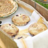 "<p>Fresh berries, piled into a buttery crust and topped with whipped cream, form miniature pies. Each one can serve as a generous single portion or be shared.</p> <p><strong>Recipe:</strong> <a href=""../../../recipefinder/mini-blackberry-pies-recipe-mslo0611"" target=""_blank""><strong>Mini Blackberry Pies</strong></a></p>"