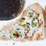 <p>At Marcie Turney's Indian restaurant, Bindi, she serves raita (a classic yogurt sauce). It's great as a snack on its own or with grilled meat.</p>