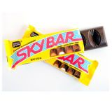 कब we asked our Facebook fans about their favorite childhood candy, most mentioned the now-extinct Seven Up candy bar: seven chocolate-covered segments—cherry, coconut, caramel, fudge, jelly, maple and Brazil nut. Luckily, the Sky Bar, made with four segments, has emerged in place of the legend. ($1.19, oldtimecandy.com)