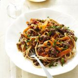 "<p>Every forkful of this nutrient-packed pasta will turn back time: Lean ground turkey boosts collagen growth, and both the linguine's whole grains and the carrot curls' beta-carotene help keep your heart healthy. Cinnamon in the sauce adds savory depth of flavor and aids in inhibiting inflammation, a culprit in tissue damage and aging.</p><br /><p><b>Recipe:</b> <a href=""/recipefinder/linguine-carrot-turkey-ragu-recipe-ghk0911"" ><b>Linguine with Carrot-Turkey Ragu</b></a></p>"