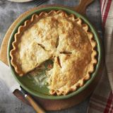 """<p>Just combine the <a href=""""/recipefinder/chicken-soup-recipe-ghk1011"""" target=""""_blank"""">soup's</a> preseasoned chicken and veggies with cream and peas — and top with a store-bought crust — to whip up this weeknight-friendly favorite.</p><br /> <p><b>Recipe: </b><a href=""""/recipefinder/chicken-pot-pie-recipe-ghk1011"""" target=""""_blank""""><b>Chicken Pot Pie</b></a></p>"""