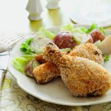"Take breaded chicken to the next level with these Dijonnaise- and panko-coated drumsticks. For added crunch, serve the potato salad on a bed of torn Boston or green leaf lettuce.<br /><br /><b>Recipe: <a href=""/recipefinder/creamy-dijon-drumsticks-recipe"" target=""_blank"">Creamy Dijon Drumsticks</a><br /><br />What you'll need:</b> red potatoes, chicken, Dijonnaise, panko, celery"