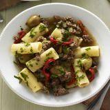 Food, Cuisine, Brown, Photograph, Dishware, Dish, White, Tableware, Pasta, Recipe,