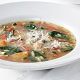 "Classic comfort food is yours, in just slightly more than half an hour. To keep it dairy-free, omit any cheese topping.<br /><br /> <b>Recipe:</b> <a href=""http://www.delish.com/recipefinder/vegetable-lovers-chicken-soup-recipe-5641""target=""_new"">Vegetable Lover's Chicken Soup</a>"