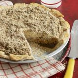"<p>Back in the late 18th century, enterprising Pennsylvania-Dutch cooks baked this rich molasses pie whenever fruit was in short supply. Today, the family-owned Bird-in-Hand Bakery in Lancaster County, Pennsylvania, carries on the tradition, having served its own delicious version to fans for nearly 40 years.</p><br /> <p><b>Recipe: </b><a href=""/recipefinder/shoofly-pie-recipe-clv0510"" target=""_blank""><b>Shoofly Pie</b></a></p>"