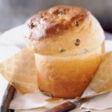 """<p>With its rich ingredients of eggs, butter, and raisins, our babka rises high and golden above the daily bread. </p><br /> <p><b>Recipe: </b><a href=""""/recipefinder/babka-3095"""" target=""""_blank""""><b>Babka</b></a></p>"""