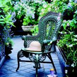 <b>Quite collectible</b><br> Pamela collects 19th-century Heywood-Wakefield wicker chairs, such as the one shown. In 1988, she donated one of her beloved chairs to the Metropolitan Museum of Art in New York City.
