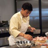 <p>Vietnam-born, Massachusetts-raised Hung Huynh slowly gained fans during his run on the third season of <i>Top Chef</i> in Miami. With lightning-fast technical skills (that chicken never had a chance!) and an adept palate, Huynh's passion showed he had the soul of a chef. It was the first time the show aired a live finale, and Huynh's elation at winning was evident to home audiences.  Huynh's goal is to open a restaurant in New York City, and he's hot on the trail. Huynh is currently an American finalist for the esteemed competition the Bocuse d'Or, the Olympics of the culinary world. If successful at the qualifying round at Disney's Epcot Center on September 26, Huynh will move on to represent the U.S. in France in January 2009. Should he get the gold, Huynh will certainly deserve his Top Chef title.</p>