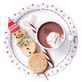 Turn an ordinary lunch into a special occasion with a snowman sandwich. Stamp out six pieces of bread using the rims of different-size glasses. Spread peanut butter on one side of three circles, lay a skewer down the middle, and add top slices. Use cheese spread for the nose and mini chocolate chips for the buttons, eyes, and mouth. Personalize by adding a paper hat and a scarf with your child's name on it.
