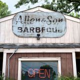 "To go to town here, order the stew and Q — a bowl of sloppy Brunswick stew alongside a pile of pork. Keith Allen chops the wood and makes all 15 desserts himself, including hand-churned ice cream.<br /><br /> Make your own ice cream!<br /> <b>Recipe Suggestions: <br /><a href=""http://www.delish.com/recipefinder/peach-ice-cream-recipe-10068""target=""_new"">Peach Ice Cream</a><br /> <a href=""http://www.delish.com/recipefinder/praline-chocolate-chip-ice-cream-recipe-8632""target=""_new"">Praline Chocolate-Chip Ice Cream</a><br /> <a href=""http://www.delish.com/recipefinder/chocolate-ice-cream-recipe-6050""target=""_new"">Chocolate Ice Cream</a></b>"