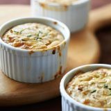 "<b>Submitted by: <a href=""/rf/user/slcalh/recipebook"" target= ""_blank"">slcalh </a></b>  <br /><br />Slcalh  says: ""Gooey cheese goodness and caramelized sweet onions all in one bite.""<br /><br /> <b>Recipe: <a href=""/recipefinder/Caramelized-Onion-Gr-8CAC34B80AC111DF95B9BB20A57E6CF9"" target=""_blank""> Caramelized Onion Gratin Pots</a></b>"