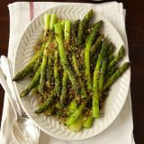 "<p>For this fresh-as-spring side, blanched asparagus is blanketed with a lemony bread crumb-herb mix.</p><br /><p><b>Recipe: </b><a href=""/recipefinder/asparagus-gremolata-recipe-ghk0211"" target=""_blank""><b>Asparagus Gremolata</b></a></p>"