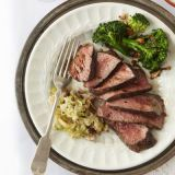 "<p>Blasted with blazing-high heat and basted in butter, this aged, succulent strip steak brings chophouse authenticity to the table in 15 minutes.</p><br /><p><b>Recipe: </b><a href=""/recipefinder/steak-apple-horseradish-relish-recipe-ghk0211"" target=""_blank""><b>Steak with Apple-Horseradish Relish</b></a></p>"