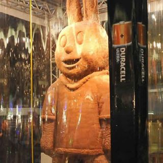 "<p>Even the Easter Bunny would have some trouble lugging around this chocolate confection. The Guiness World Record-holding largest chocolate rabbit was made by Duracell South Africa in March 2010. The giant dessert weighed more than 6,635 pounds!</p>  <p>A bunny that big is meant for display, just like these amazing examples of <a href=""/food-fun/food-art""><b>food art</b></a>.</p>"