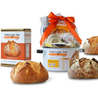 "<p>Average Joe Artisan Bread has only been in business for about a year, but is attracting a wide base of customers for its easy-to-use bread making kits. The company's most popular kit — The Cook's Edition — is the simplest and least expensive option to get you started in the amazingly complex and delicious world of bread baking. At only 30 dollars, it's totally affordable, and perfect for the cook who already has kitchen tools like measuring cups, spoons, bowls, and other basics, but still needs special ingredients like bread flour and yeast, and Average Joe's cookbook and handy chea tsheet. For the real novice, think about purchasing the gift edition, which comes with all the same ingredients and recipes as the Cook's Edition, but also includes a bread pot and all the basic utensils.</p><p><a href=""http://www.breadkit.com/home"" target=""_blank"">Average Joe Artisan Bread Kits</a>.</p>"