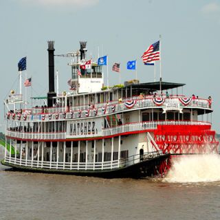 "<p>You don't have to wait until Mardi Gras to head down to New Orleans and have a good time. Hop aboard the Steamboat Natchez, take a whirl around the city, and enjoy some of the best cuisine the south has to offer. Run by the New Orleans Steamboat Company, the Steamboat Natchez is the last ""authentic"" steamboat sailing up and down the great Mississippi River: Find yourself drinking and being merry aboard the Natchez, while dining on smoked beef brisket, ""Maque Choux,"" or Louisiana style Fried Fish.</p><p><a href=""http://www.steamboatnatchez.com/menu.html"" target=""_blank"">steamboatnatchez.com</a></p>"