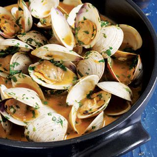 "<p>This simple recipe of clams cooked in a spicy Thai red curry sauce takes advantage of prepared Thai curry paste, which is available at well-stocked supermarkets and Asian-foods stores. We call for red curry paste but use whatever type you prefer. This recipe also works with mussels. Serve with crusty bread to soak up any leftover sauce.</p> <p><b>Recipe:</b> <a href=""/recipefinder/red-curry-clams-recipe-ew0511"" target=""_blank""><b>Red Curry Clams</b></a></p>"