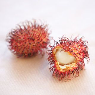 <p>A relative of the lychee, with similar luscious, perfumed, grape-like flesh. To remove the leathery, tendril-covered shell, break open with a fingernail and peel like an egg.</p>