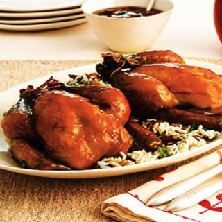 "<p> If your holiday feast is limited to just a few friends and family members, Cornish hens—compact, succulent and simple to cook—make an ideal dinner choice. Try this <a href=""http://www.womansday.com/Recipes/Cherry-Glazed-Cornish-Hens"" target=""_blank"">Cherry-Glazed Cornish Hens</a> recipe, which requires only minutes of prep work, as a main dish alternative. </p>"