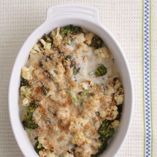 "<p>This creamy broccoli-and-cauliflower casserole is a hassle-free side dish that just about everyone loves. Our healthier version skips the heavy cream and butter found in most recipes, saving about 160 calories and 12 grams of saturated fat compared to a traditional version.</p><p><b>Recipe: </b><a href=""/recipefinder/cauliflower-broccoli-gratin-recipe-ew0112"" target=""_blank""><b>Cauliflower-Broccoli Gratin</b></a></p>"