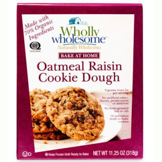 "<b>Tasters' Pick:</b> Crisp outside and tender inside, these <a href=""http://www.goodhousekeeping.com/product-reviews/food-products/best-cookie-dough/wholly-wholesome-oatmeal-cookie-dough"" target=""_blank"">chunky, cinnamony cookies</a> ($6 for 11.25 oz.), filled with ""plump"" raisins, taste like ""homemade."""