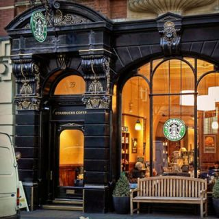 """<p>In true British fashion, this London Starbucks, located on 99 St. Martins Lane in Covent Garden, is quite posh. Outside you will encounter an ornate façade with gorgeous gold detailing. Inside the store boasts reproductions of programs from the London Coliseum as well as other historic images. While we can't say this is Pippa Middleton's favorite Starbucks location, it is well known that the Duchess of Cambridge's sister has often stopped by the coffeehouse for one of their signature espresso drinks.</p><p><i><a href=""""http://www.starbucks.co.uk/"""" target=""""_blank"""">Starbucks</a>, 99 St. Martins Lane, London GB-ENG</i></p>"""