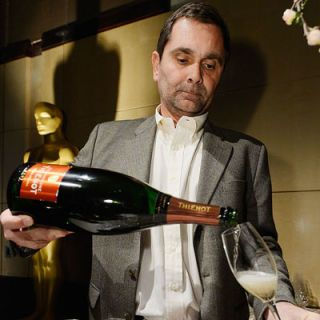 Champagne Thienot is the official sparkling wine of the post-Oscars celebration. Here, the Champagne house's president, François Peltereau-Villeneuve, pours a glass.