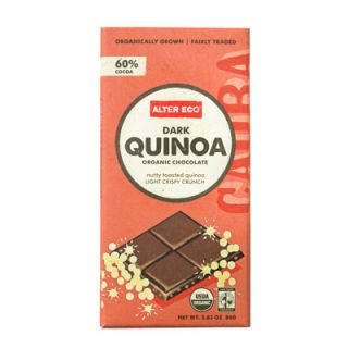 "Brown rice and quinoa, whether toasted or puffed, has made its way into chocolate bars — giving chocolates a toasted flavor and a Nestlé Crunch-like consistency. One of our favorites? <a href=""http://shop.alterecofoods.com/Dark-Quinoa-Chocolate--Organic/p/ALT-000042&c=AlterEco@Chocolate"" target=""_blank"">Alter Eco Dark Quinoa</a> ($4) is 60 percent dark chocolate and studded with fluffy, melt-in-your-mouth quinoa puffs."