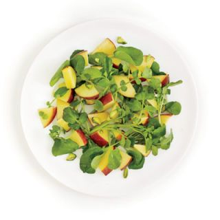 "<p>Juicy peaches mellow out the sharp taste of watercress, so even picky eaters will enjoy this pairing.</p> <p><b>Recipe: <a href=""http://www.delish.com/recipefinder/watercress-peaches-recipe-ghk0610"" target=""_blank"">Watercress and Peaches</a></b></p>"