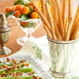 "<p>In this recipe we combine our breadsticks with a generous grating of Pecorino Romano cheese to create slender cornmeal-cheese sticks with a crisp, crackery crunch.</p><p><b>Recipe:</b> <a href=""/recipefinder/crisp-corn-breadsticks-recipe-ghk1110"" target=""_blank""><b>Crisp Corn Breadsticks</b></a></p>"