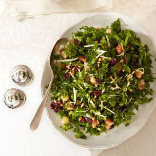 "<p>With glazed onions, dried cherries, pine nuts, and crunchy kale, the flavor of this salad is as bright as its colors.</p> <p><b>Recipe: <a href=""http://www.delish.com/recipefinder/kale-salad-glazed-onions-cheddar-recipe-ghk1112"">Kale Salad with Glazed Onions and Cheddar</a></b></p>"