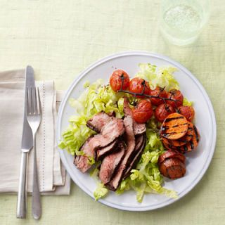 "<p>Enjoy delicious grilled toppings in this main-dish salad, like grilled steak, grilled tomatoes, and grilled sweet potatoes.</p> <p><b>Recipe: <a href=""http://www.delish.com/recipefinder/grilled-steak-salad-recipe-ghk0812"" target=""_blank"">Grilled Steak Salad</a></b></p>"