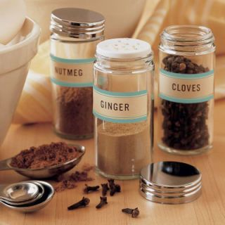 "Keep your spices in airtight jars. Stored well, spices will last up to one year before they begin to lose their aroma. See <a href=""http://images.marthastewart.com/images/content/web/pdfs/pdf3/spicejar_labels.pdf"" target=""_blank"">marthastewart.com</a> for pictured labels."