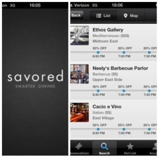 "<p>Dining out doesn't have to break the budget with Savored, an app that finds you discounts at local restaurants. Currently in 10 major cities, Savored works with restaurant to fill their tables and make a night out within your budget. Just search for restaurants and the app will show you what reservation times are available and at what discount. It's that simple. <a href=""http://savored.com"" target=""_blank""><i>savored.com</i></a></p> <p><strong>For:</strong> iPhone and Android</p> <p><strong>Price:</strong> Free</p>"
