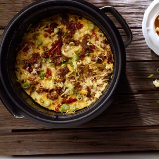 "<p>Warm your house with the smell of delicious breakfast! Enjoy Jimmy Dean® Hearty Sausage Crumbles, eggs, and cheese, slow-cooked to perfection.</p> <p><b>Recipe: <a href=""http://www.delish.com/recipefinder/slow-cooker-sausage-breakfast-casserole-recipe-jd0114"">Slow Cooker Sausage Breakfast Casserole</a></b></p>"