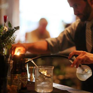 """<p>The quirky drinks menu here is based on popular '80s flicks. The """"Weird Science"""" section includes drinks with experimental preparations&#x3B; the """"Rocky III"""" cocktails are served over hand-cut ice cubes. <em><a href=""""http://thesqueakybean.net/"""" target=""""_blank"""">thesqueakybean.net</a></em></p>"""