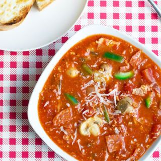 "<p> </p> <p><strong>Get the recipe from <a href=""http://www.cookthestory.com/2014/11/13/pizza-soup/"" target=""_blank"">Cook the Story</a>.</strong></p>"