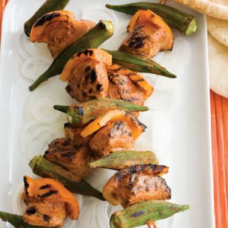 <p>Cutting down on calories doesn't mean you can't experiment with new ideas. Take the time to treat yourself to these marinated turkey kebabs, soaked in garam masala — a roasted spice blend that includes cumin, coriander, black pepper, cinnamon, cardamom, and cloves. Skewer the tender turkey pieces along with okra and peppers and serve with cilantro chutney and naan bread.</p><br />