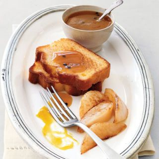 "<p>What makes toast so delicious? At about 310°F, the sugars in the bread begin to caramelize, imparting a golden brown crunch.</p><br />  <b>Recipe:</b> <a href=""/recipefinder/pound-cake-pears-50"" target=""_blank""><b>Toasted Pound Cake with Pears</b></a>"