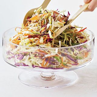 "<p>Peel fresh ginger with a spoon and grate it on a Microplane zester before using it in this dressing.</p><br /> <p><b>Serve with Cabbage-and-Sesame Slaw</b><br /> Toss 14 ounces coleslaw mix with the dressing and 1 tablespoon toasted sesame seeds.</p><br /> <p><b>Recipe: </b><a href=""/recipefinder/ginger-vinaigrette-recipe"" target=""_blank""><b>Ginger Vinaigrette </b></a></p>"
