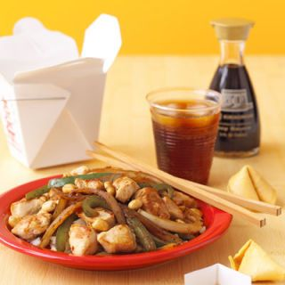 "<p>Think before you pick up the phone and dial for takeout. You may have the makings of a Chinese-style dinner in your own pantry. Add some spice to your ever-versatile chicken breasts by throwing in some ginger, soy sauce, and garlic, and pretty soon you'll be serving a supper superior to the fast food you almost ordered.</p><br />  <p><a href=""/recipefinder/easy-kung-pao-chicken""target=""_new"">Get this recipe!</a></p>"