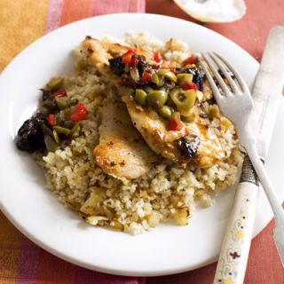 "<p>Look for family packs of meat and poultry: They're cheaper and you can always freeze what you don't use right away. Try <a  href=""http://www.delish.com/recipefinder/sweet-savory-chicken-dinner-recipes""target=""_new"">Sweet and Savory Chicken</a> (pictured) or <a  href=""http://www.delish.com/recipefinder/beef-bean-chile-verde-recipe-9063""target=""_new"">Beef  and Bean Chile Verde</a> for an easy dinner.<br /><br />  Frozen veggies are great to have on hand and often come in large, resealable  bags. A <a  href=""http://www.delish.com/recipefinder/peanut-chicken-stir-fry-2265""target=""_new"">stir-fry</a> using frozen veggies is easy and healthy.<br /><br />  To make sure your frozen fare hasn't been stored for too long, follow our <a  href=""http://www.delish.com/guides/cooking/food-freshness-spoilage""target=""_new"">Freshness  Guide</a>.</p>"