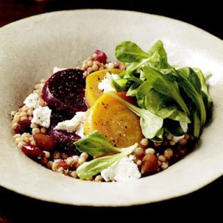 "<p>A mix of golden and ruby red beets give this couscous salad a hefty dose of flavor, as well as fiber, vitamin C, iron, magnesium, and potassium.</p><br /><p><a href=""/recipefinder/couscous-beet-salad-recipes""target=""_new"">Get this recipe!</a></p>"