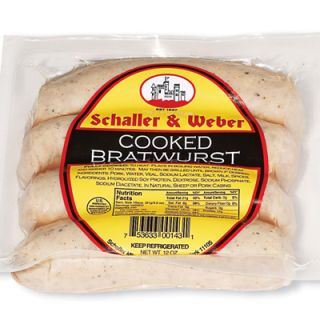"<p><b>#1: <a href=""http://www.schallerweber.com/""target=""_new"">Schaller & Weber Cooked Bratwurst</a></b> <br /> These fully cooked sausages are the classic combination of pork, veal, and spices. <br /><br />  <p><b>#2: <a href=""http://www.boarshead.com/""target=""_new"">Boar's Head Cooked Bratwurst </a></b><br/> Second-place honors earned for a perfect balance of salty and spicy flavors.<br /></p><br/><p><b>Related Recipe: <a href=""/recipefinder/bratwurst-beer-soup-recipes"" target=""_blank"">Bratwurst and Beer Soup</a></b></p>"