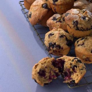 """<p>Flaxseeds give these wholesome muffins a nutty taste (although you can substitute 3/4 cup rolled oats), and maple syrup provides the subtle sweetening. Grab one on your way out the door and save it for a mid-morning snack.</p><br /> <p><b>Recipe: </b><a href=""""/recipefinder/blueberry-maple-muffins-recipe-4884"""" target=""""_blank""""><b>Blueberry-Maple Muffins</b></a></p>"""