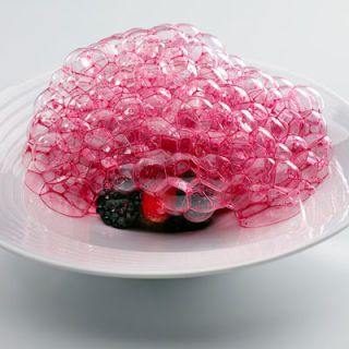 <b>Dish:</b> Red Fruits from the Garden<br />A year's worth of experimentation went into Andoni Luis Aduriz's voluminous edible bubbles, made with sun-ripened berries and beetroot. The Michelin-two-starred Mugaritz was destroyed by a kitchen fire earlier this year, but Aduriz plans to reopen it this summer.