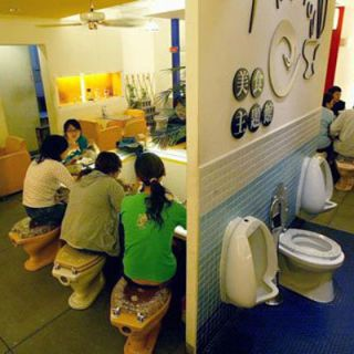 "<p><b>Restaurant:</b> <a href=""http://www.moderntoilet.com.tw/en/index.asp"" target=""_blank"">Modern Toilet</a>, Taipei, Taiwan</p> <p><b>Culinary Concept:</b> Bathroom themed. If you're into poop jokes (and can get over the gross-out factor), then you will find this toilet-themed restaurant plenty entertaining. Guests slurp up Asian noodles from commode-shaped bowls while sitting on their very own can. Keep the seat down.</p>"