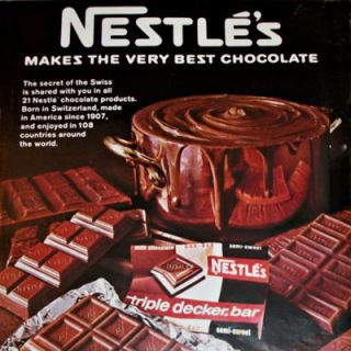 <p><b>Brand:</b> Triple Decker Bar, Nestlé's</p> <p><b>Year Launched:</b> 1967</p>  <p><b>What Made It Great:</b> Triple your pleasure. This is one of those chocolate bars that is so simple yet so brilliant. Nestlé's Triple Decker Bar had three lovely layers of chocolate: milk, white, and semisweet. During its tenure, white chocolate was a rarity in candy bar form (the reason for its popularity).</p>