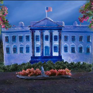 Liz Hickok created this Jell-O depiction of the White House in honor of President Obama's first 100 days in office.