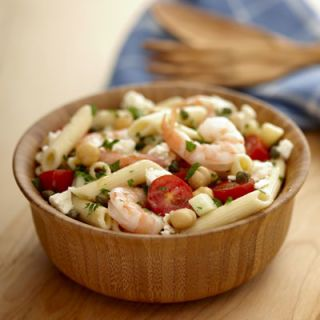 "<b>Submitted by:</b> <a href=""/rf/user/dexter3102/recipebook"" target=""_blank""><b>dexter3102</b></a><br /><br />This pasta salad tossed with sautéed shrimp is loaded with Mediterranean flavors — garbanzos, cucumber, tomatoes, capers, and feta.<br /><br /><b>Recipe:</b> <a href=""/recipefinder/MEDITERRANEAN-SHRIMP-E07027E8521111DFA6D9FC4586EB9FE2"" target=""_blank""><b>Mediterranean Shrimp and Garbanzo Salad</b></a>"